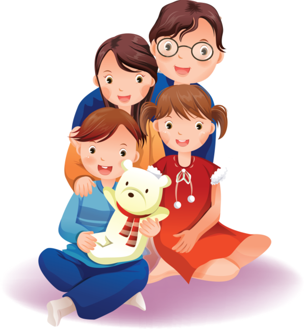 collection of png. Photo clipart extended family