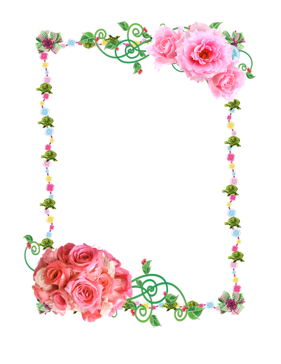 Frame PNG with roses by Melissa