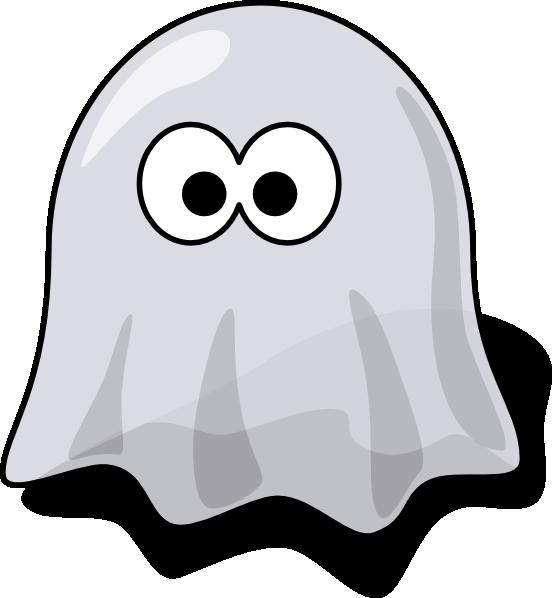 Spooky clipart vector. Cartoon ghost clip art