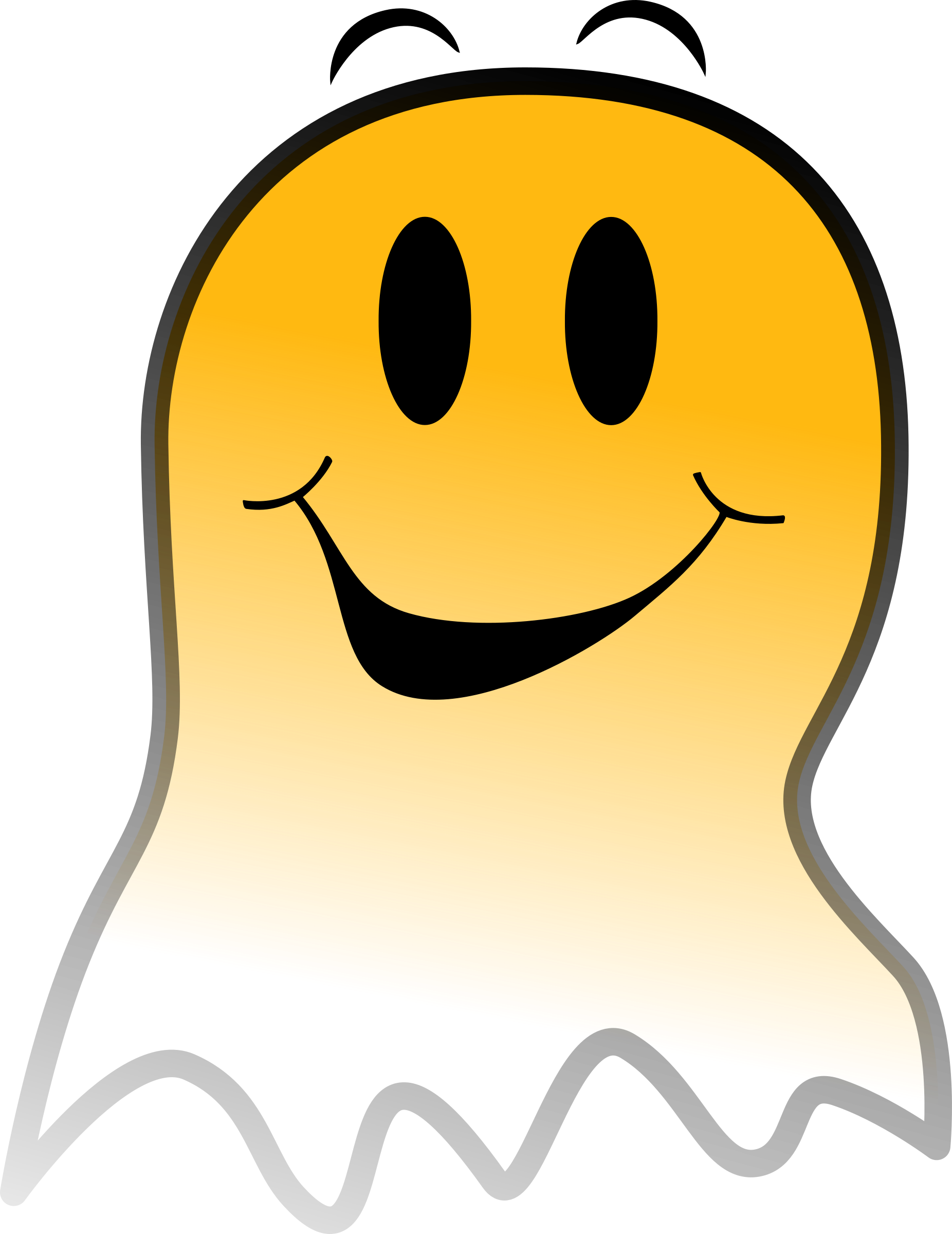 Ghost clipart vector. Smiley big image png