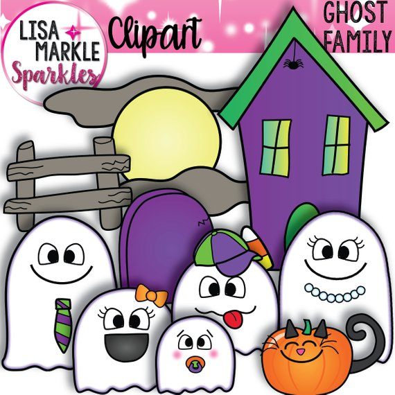 Halloween family . Clipart ghost october