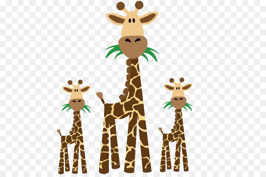 Giraffe clipart family. Baby background animal deer
