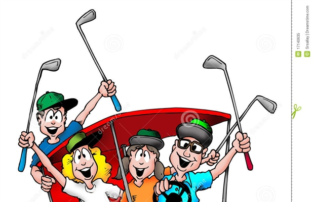 Golfing clipart family. Vfw post annual golf