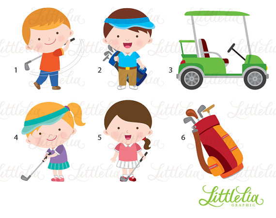 Golf clipart family. Playing products