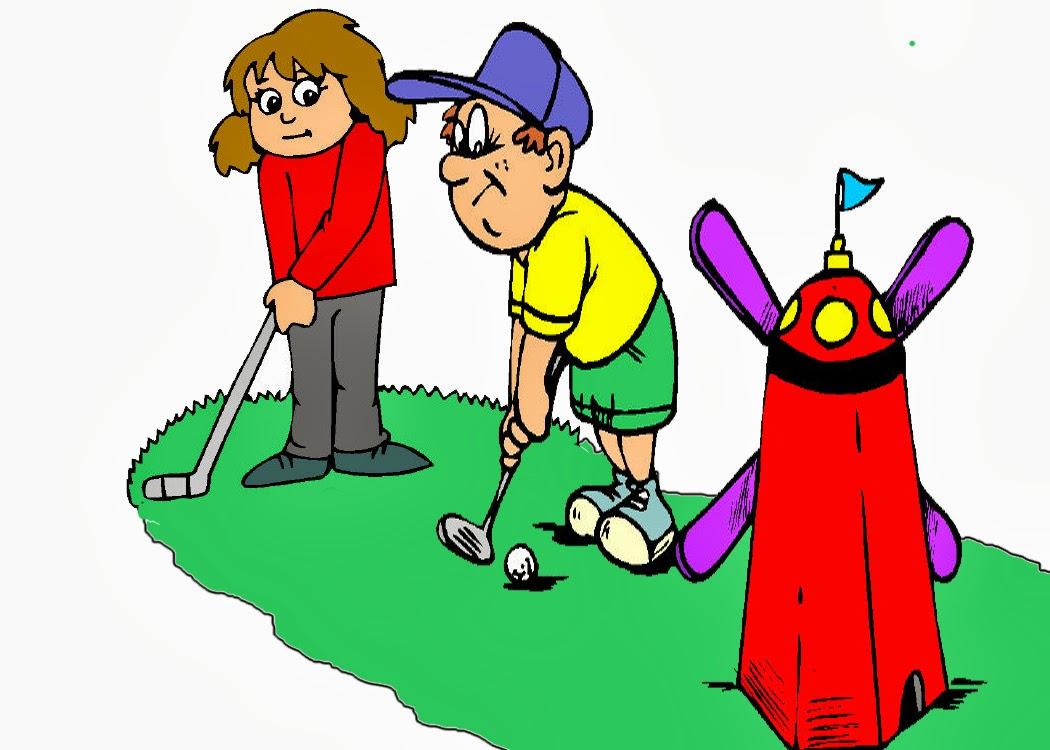 Golf clipart family. Mini clip art library