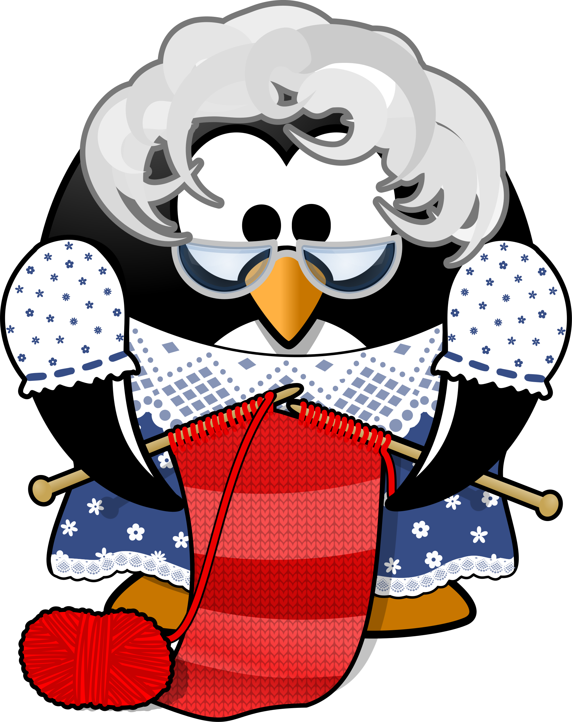 Kind clipart grandma. Penguin