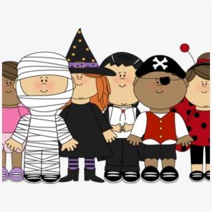 Clipart halloween family. Kids
