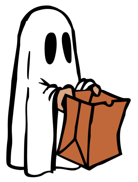 Guide to friendly activities. Clipart halloween family
