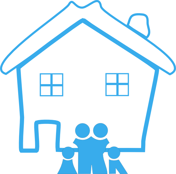 House clipart family. Home and clip art