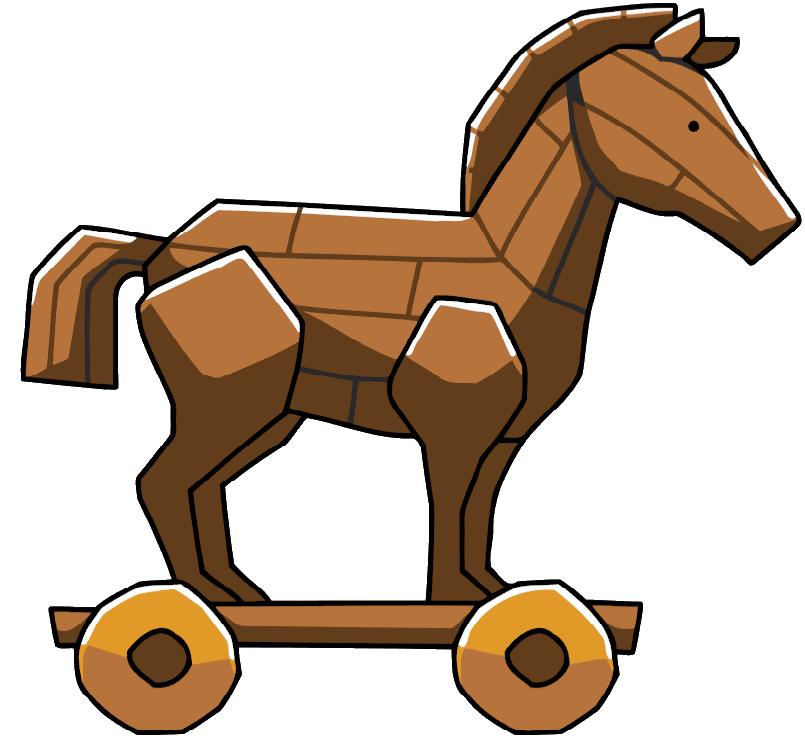 Clipart horse file. Image trojan png scribblenauts