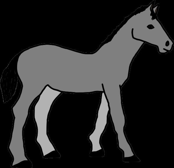 Grey horse clip art. Horses clipart family