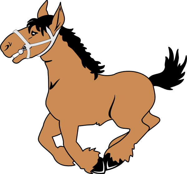 Cartoon horse clip art. Worm clipart carton