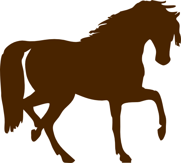 Brown horse clip art. Horseshoe clipart animated