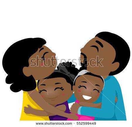 Hugging station . Family clipart hug