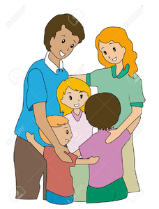 Hug clipart family. Hugging free images at