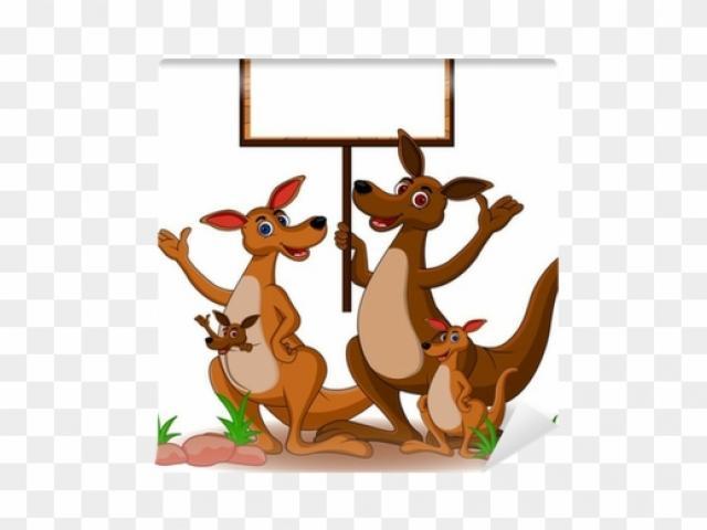 Kangaroo clipart family. Free download clip art