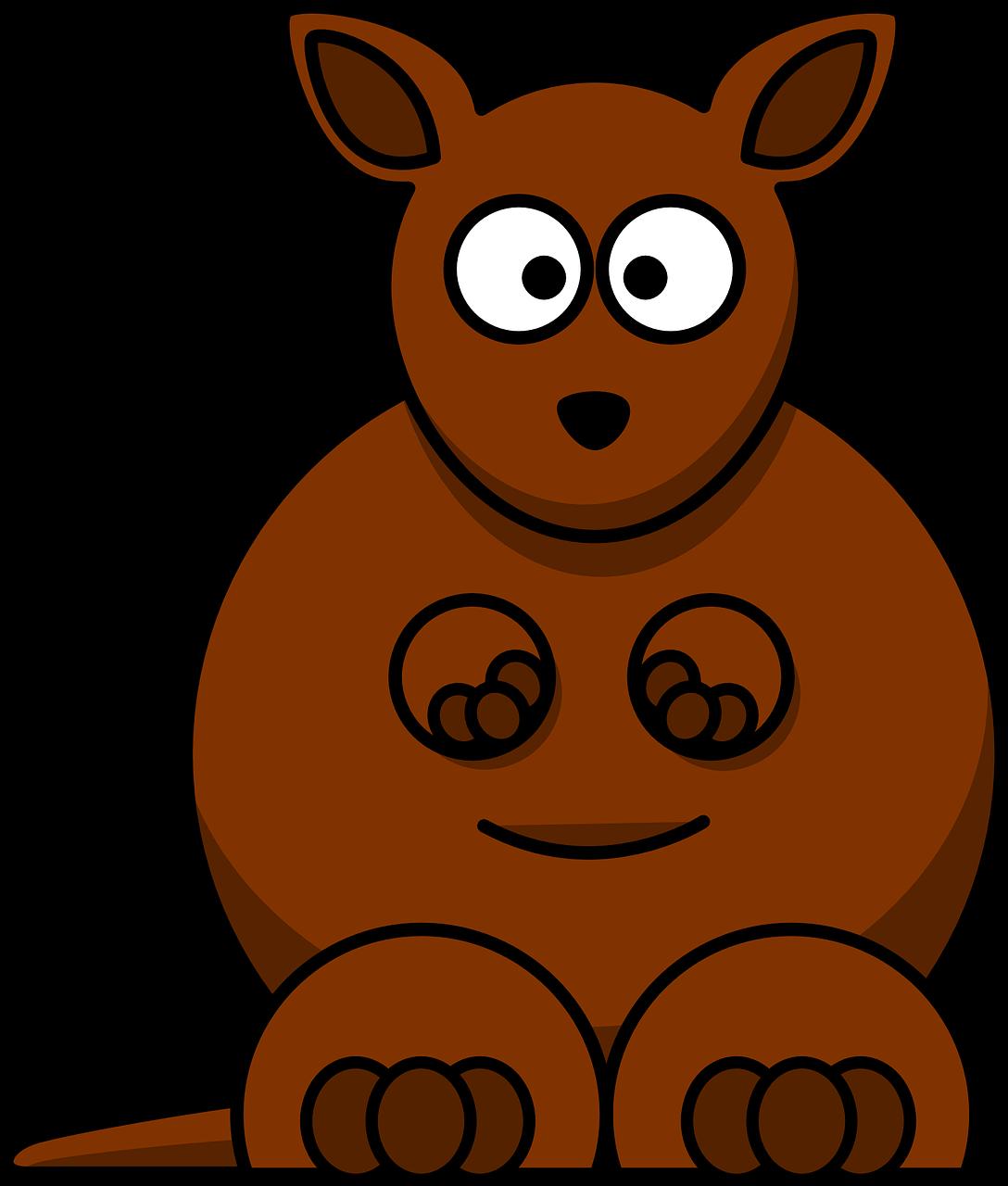 Free image on pixabay. Kangaroo clipart zoo animal