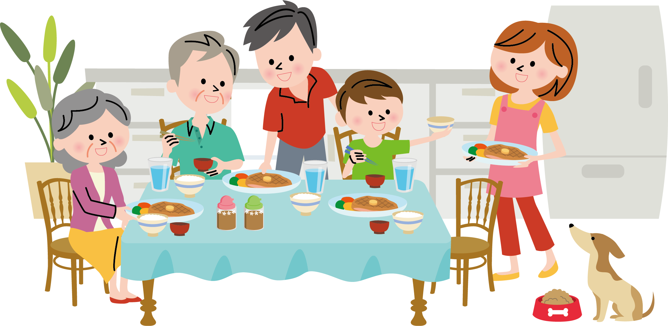 Diner clipart lunch special. Dinner clip art family