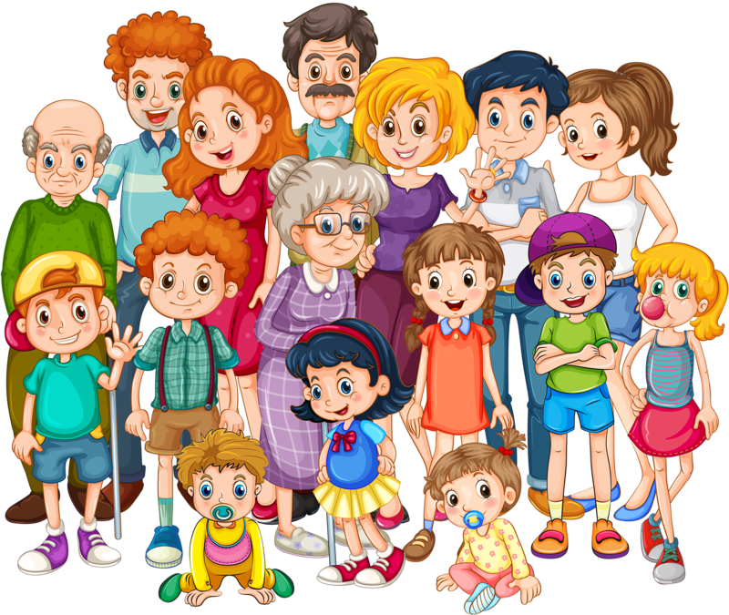 People clipart toy. Extended family clip art