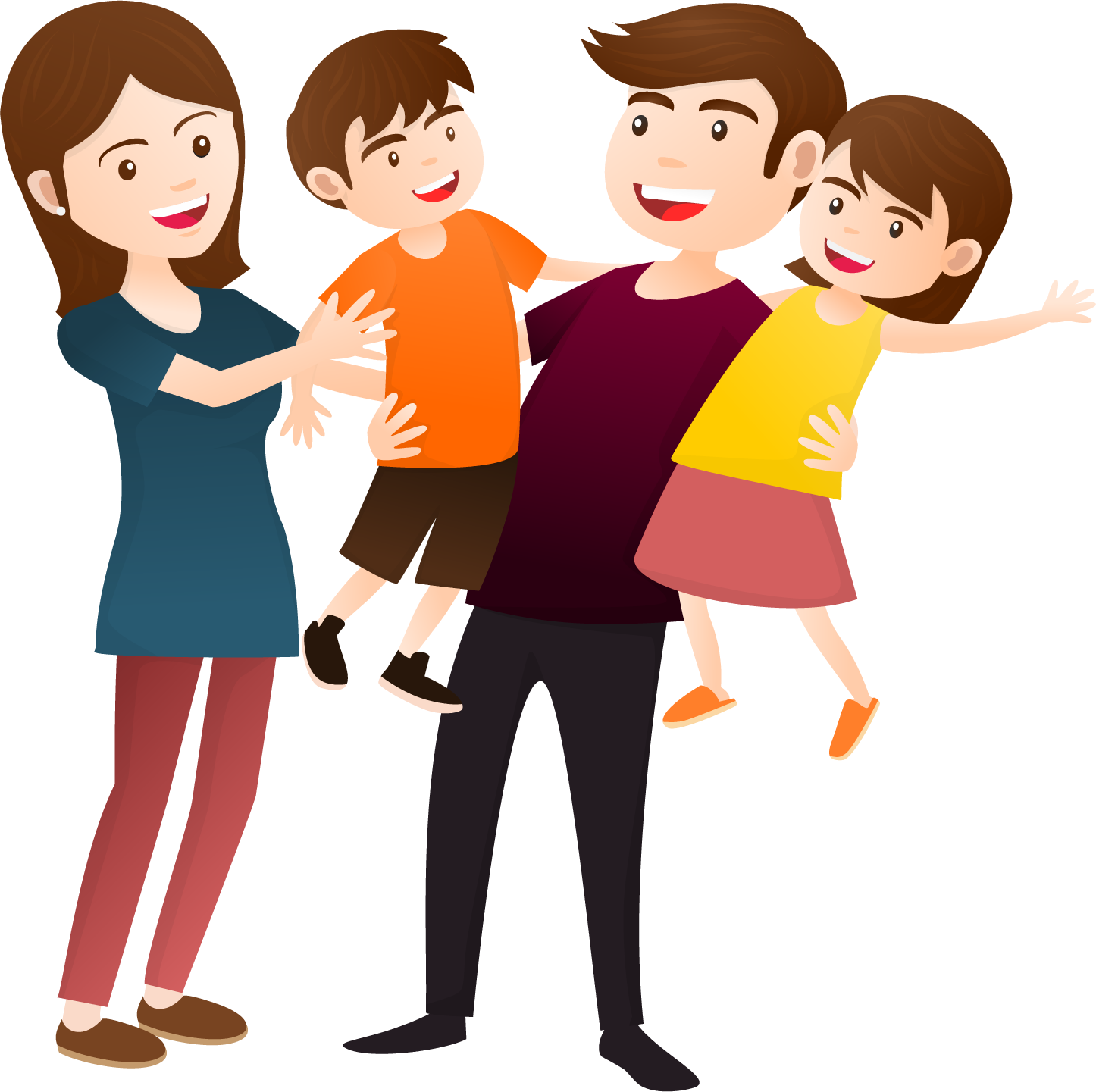 Family desktop wallpaper clip. Person clipart contented