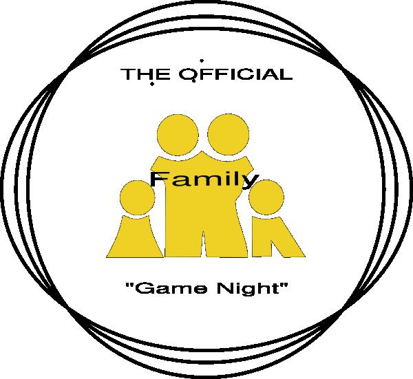 Night clipart transparent. Family game logo clip
