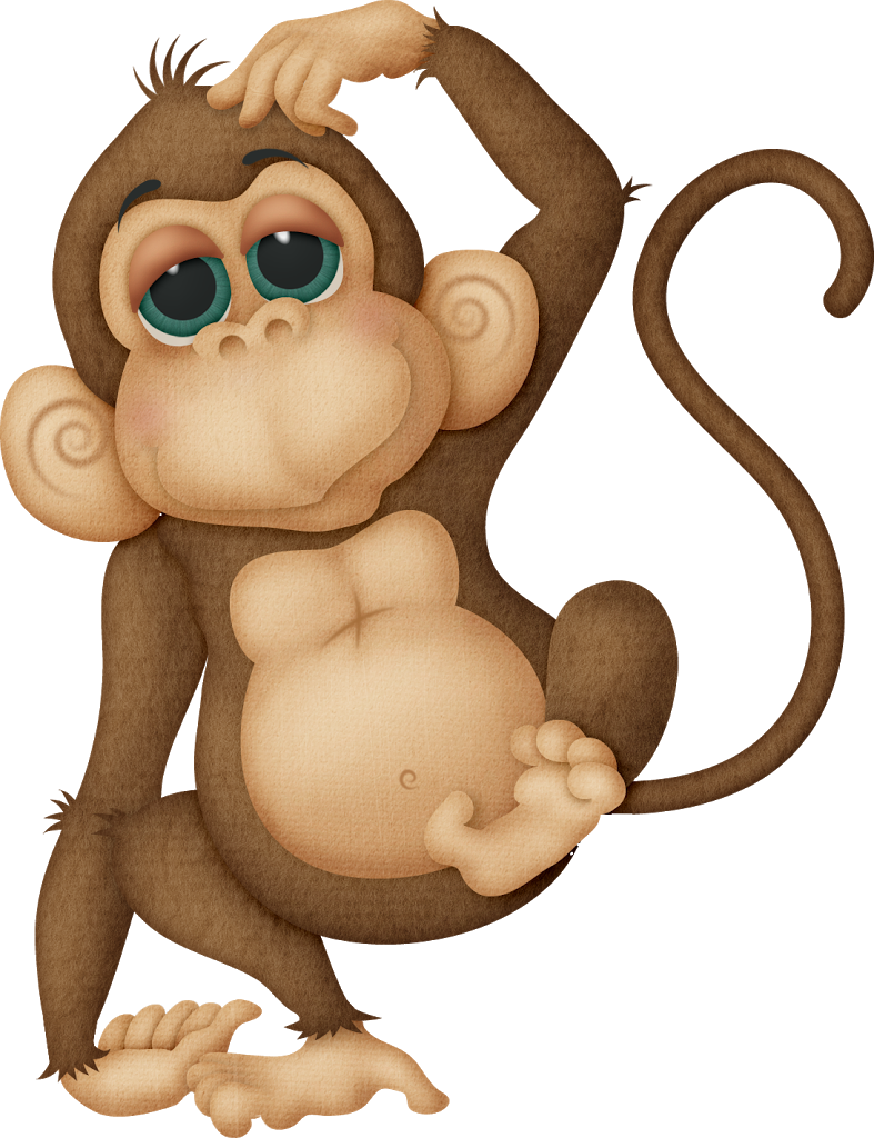 Funny on one foot. Hand clipart monkey