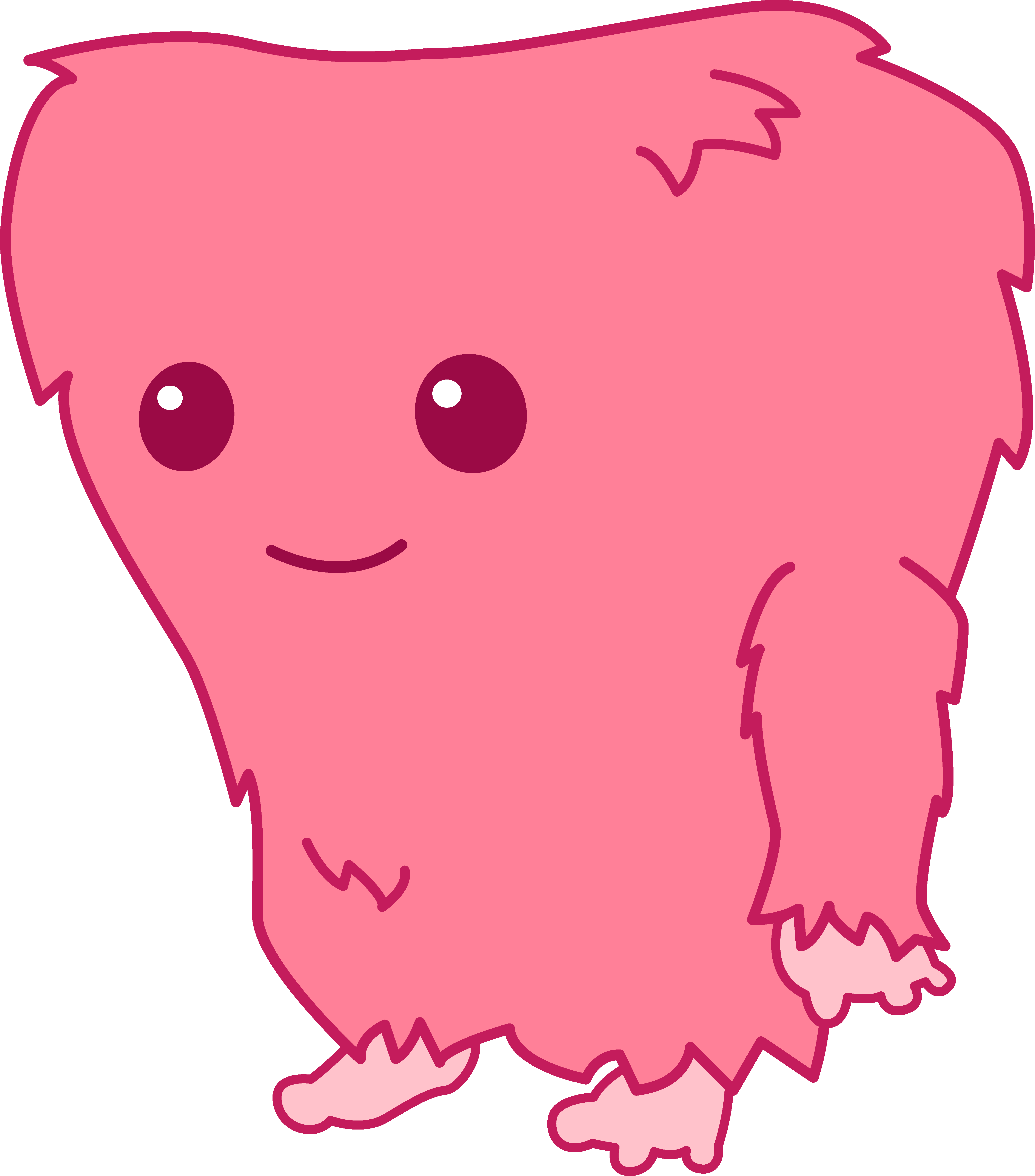 Families clipart monster. Fuzzy cute