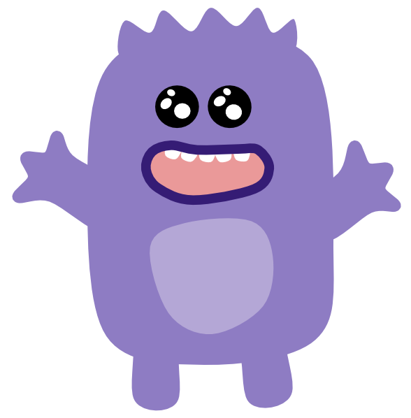 Purple clip art at. Clipart science monster