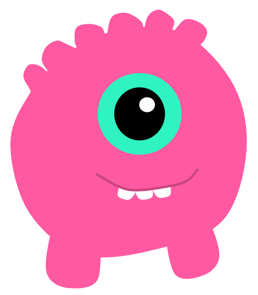 Monster clip art at. Dice clipart pink