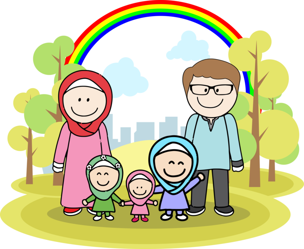 best muslim png. Family clipart muslims