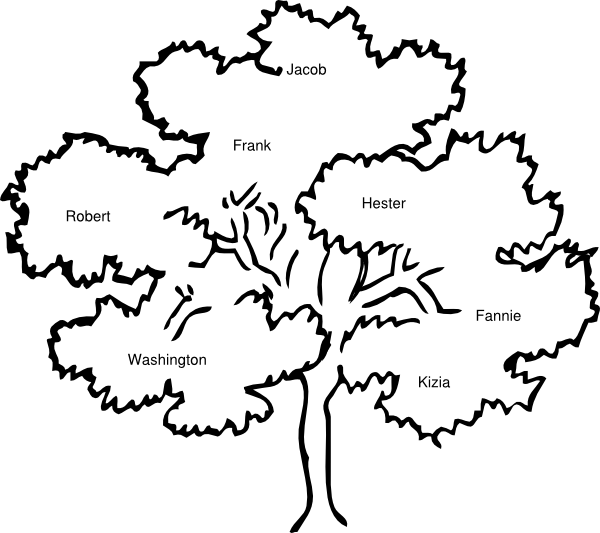 Cook Family Reunion Tree Clip Art at Clker.com - vector clip art ...
