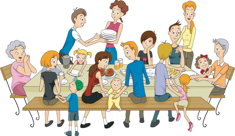 Families clipart animated. October alabama living magazine