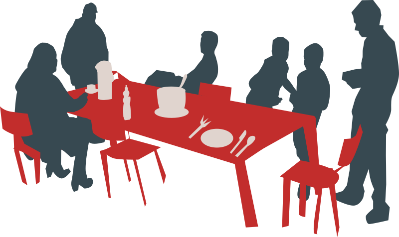 Family medium image png. Families clipart picnic table