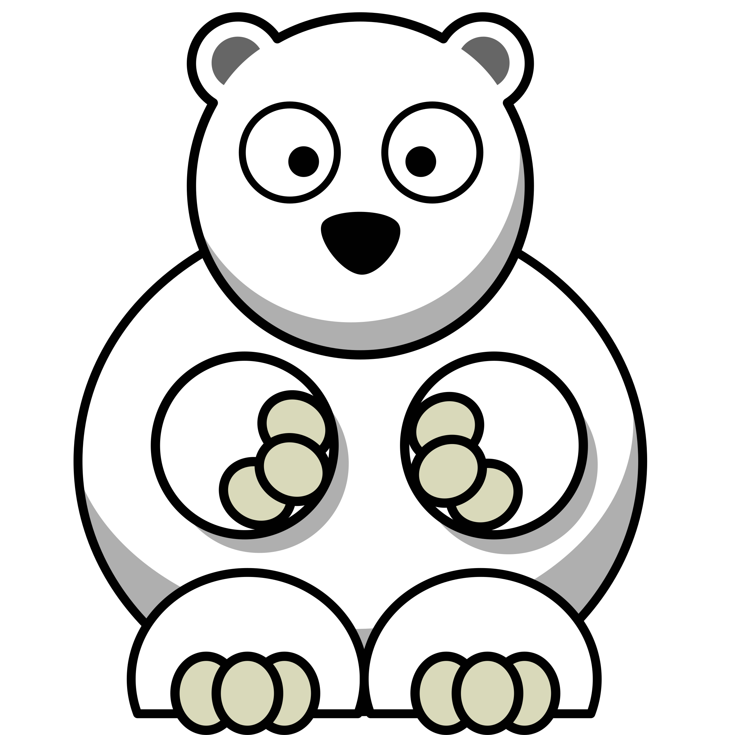 Family clipart polar bear. Remix by anarres a