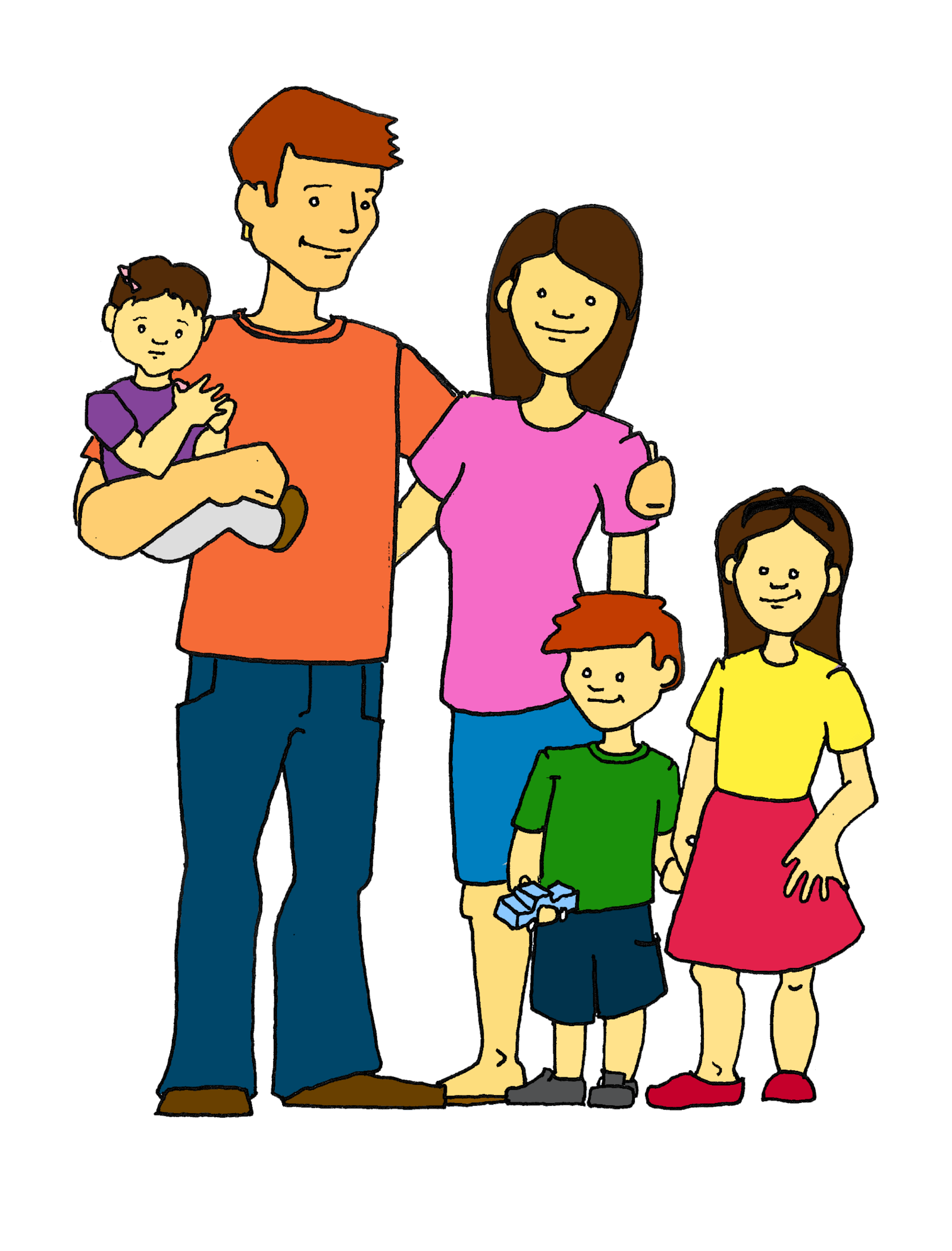 young clipart immediate family