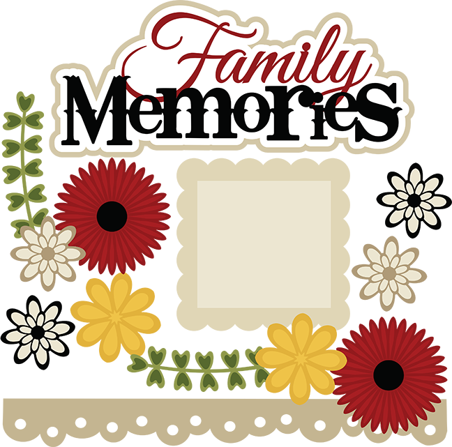Family scrapbook file cute. Memories clipart svg
