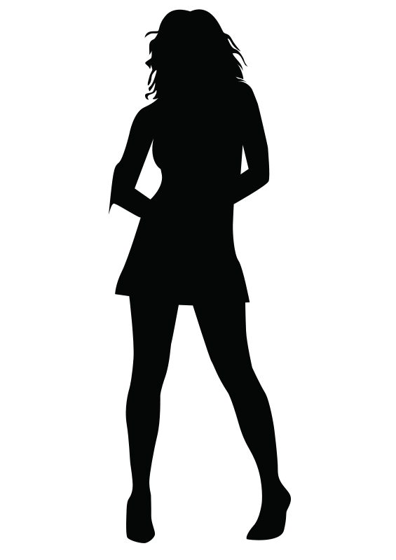 Humans clipart lady figure.  collection of shadow