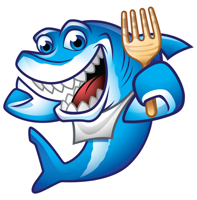 Contact map bites cotee. Clipart shark happy