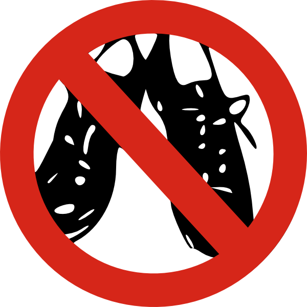 No shoes allowed clip. Gardening clipart signage