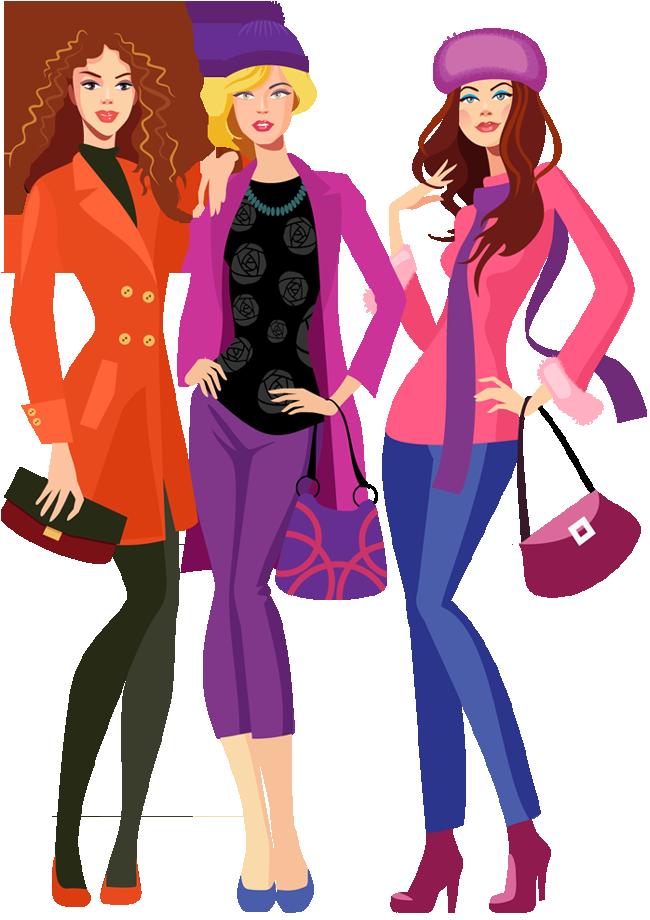 Shopping portfolio categories designshop. Fashion clipart family