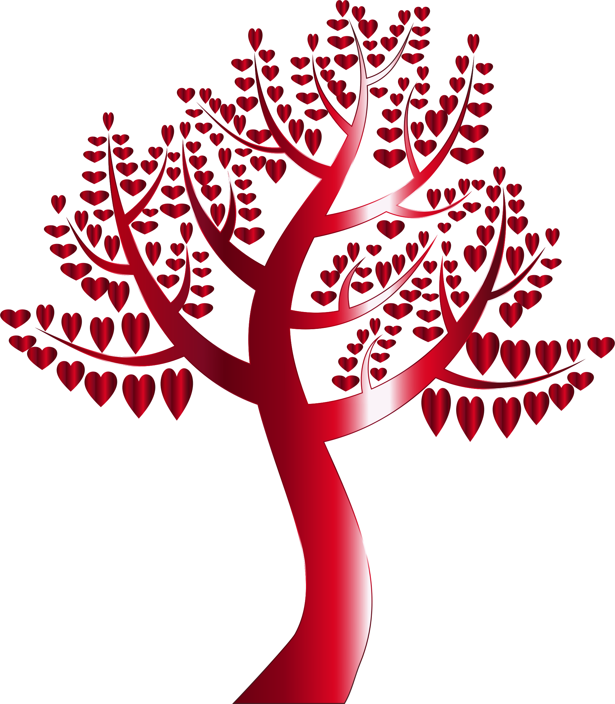 Tree clipart family reunion. Simple hearts no background