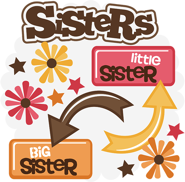 Sisters svg . Family clipart sister