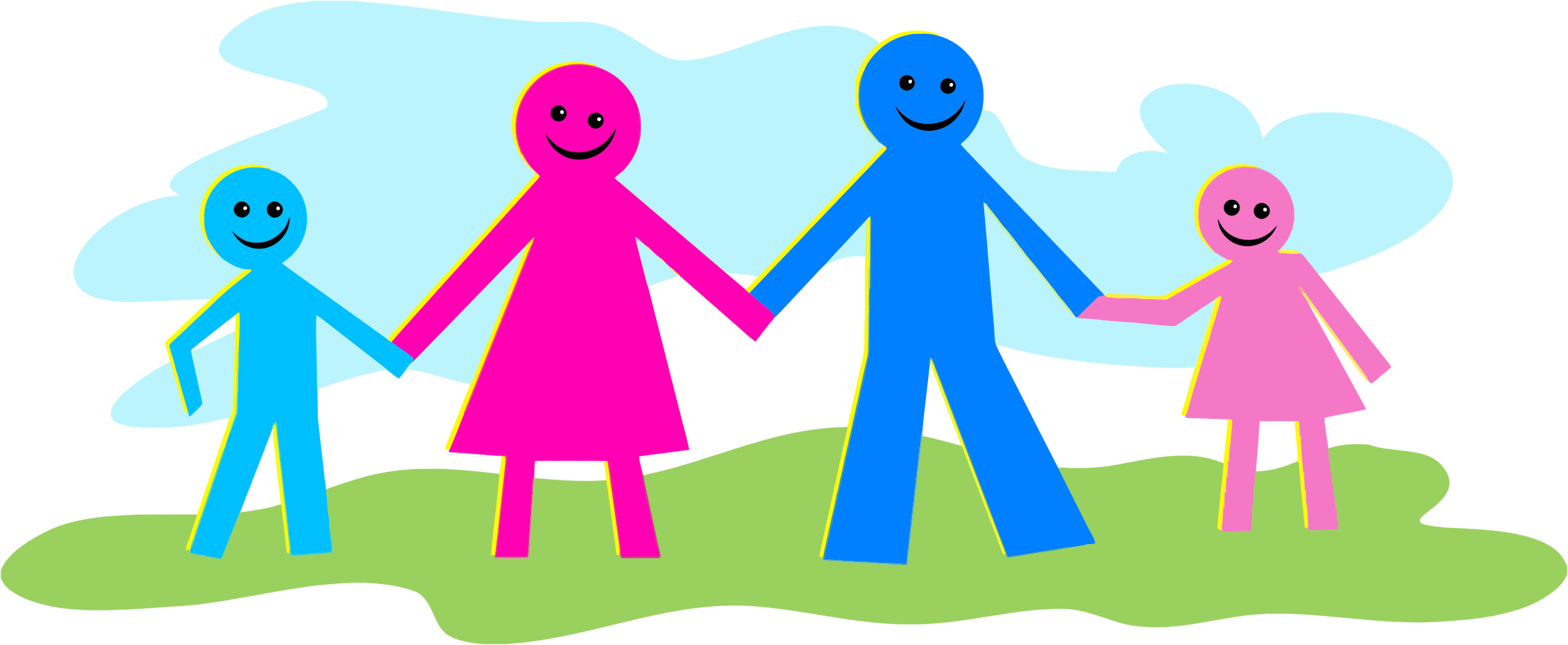 Big image png. Clipart family stick figure