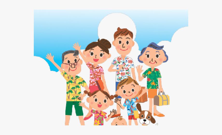 Clip art . Clipart summer family