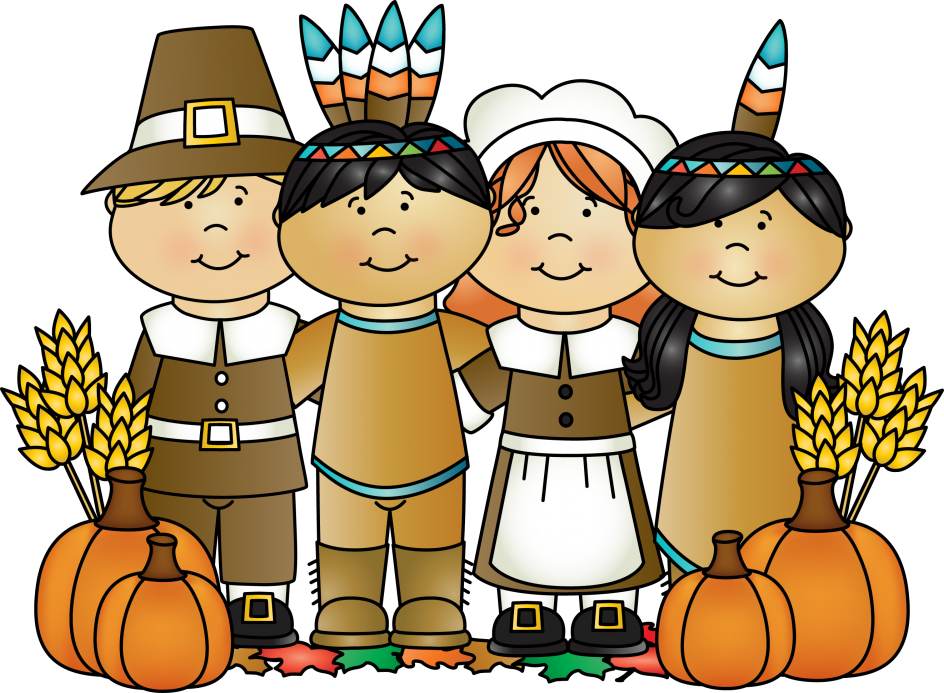 Excellent first thanksgiving table. Pilgrims clipart cute