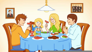 Eating together free images. Clipart family togetherness
