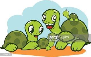 Cute stock vectors me. Clipart turtle family