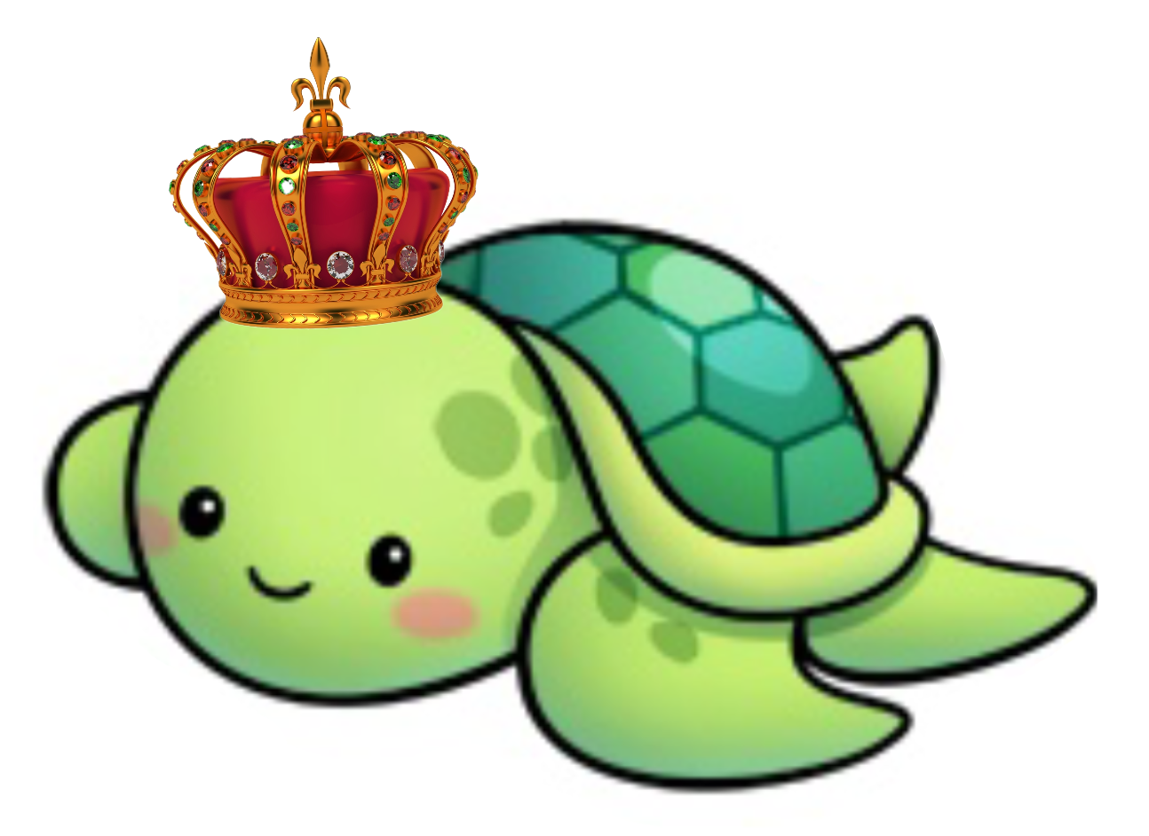 Dad prince family . Pet clipart green turtle