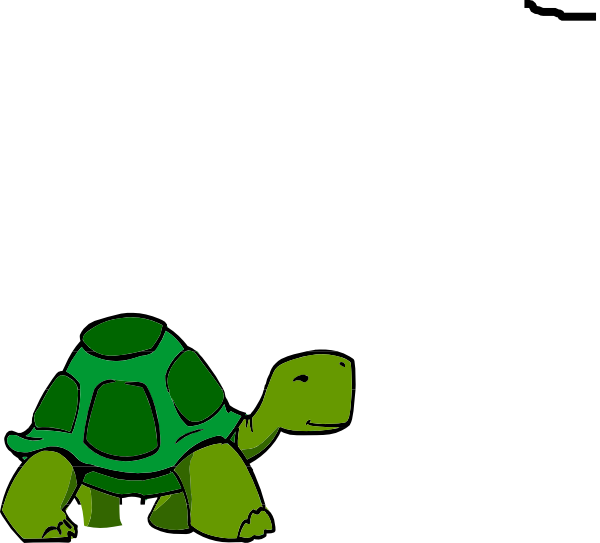Green clip art at. Clipart turtle animation