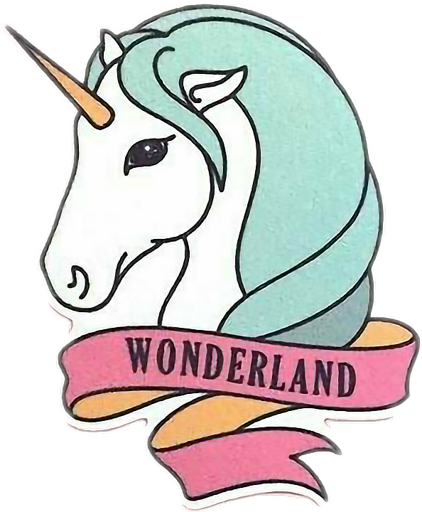 Clipart unicorn family. Tumblr sticker by maria